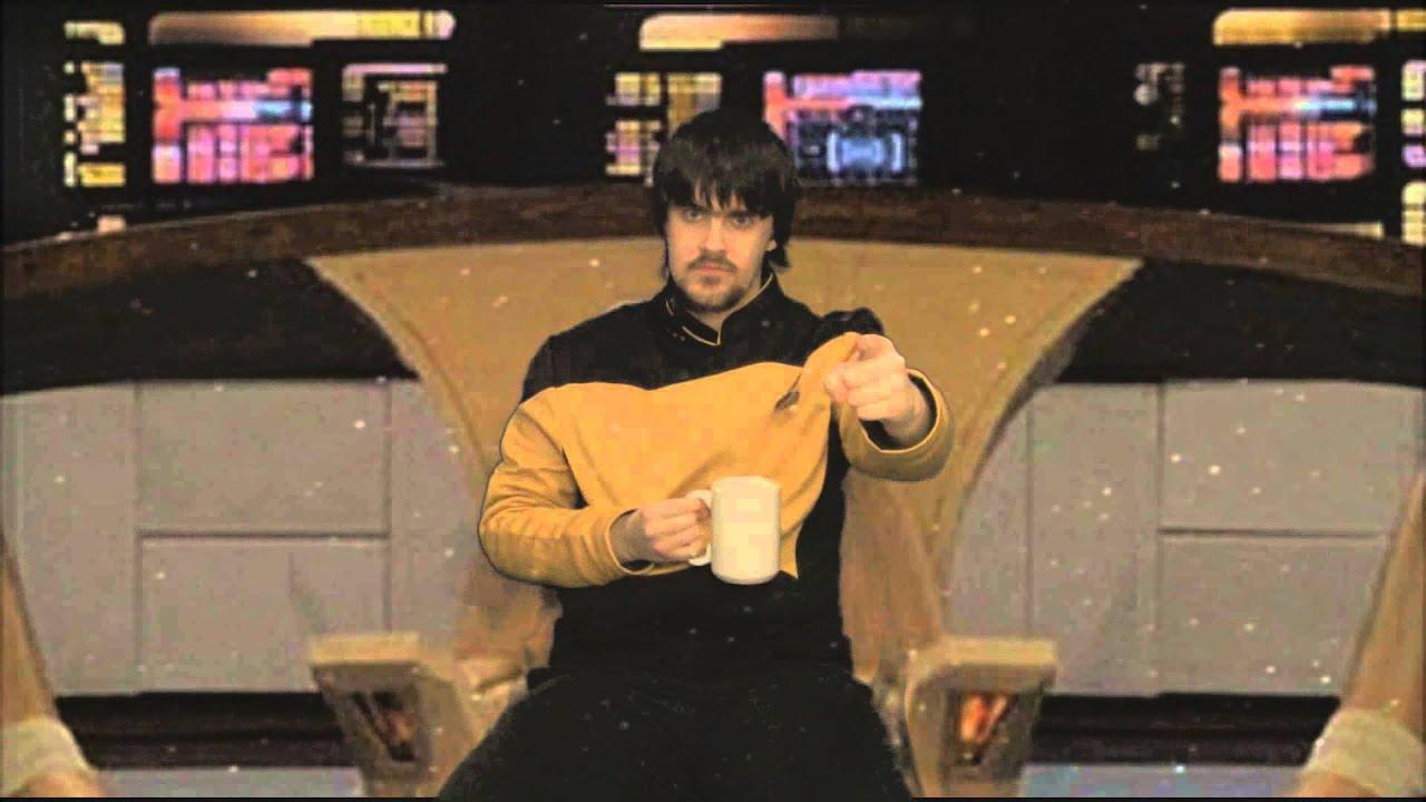 Star Trek Captains Chair Desk Vitra Tng Ace In The Captain 39s Youtube