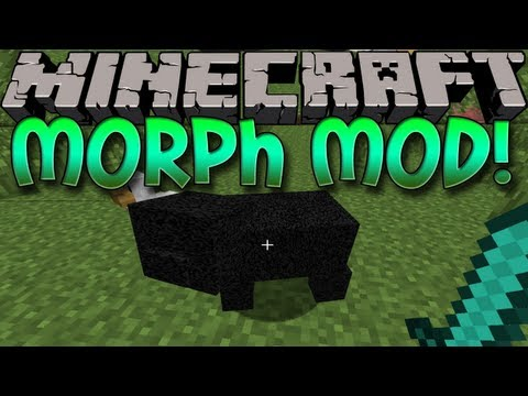 Minecraft Mods W/ A Subscriber: MORPH MOD! Transform Into Any Mob! (1.6.2)