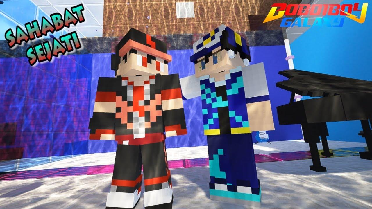 Kisah Persahabatan BoBoiBoy Halilintar dan BoBoiBoy Taufan -Minecraft BoBoiBoy Mod