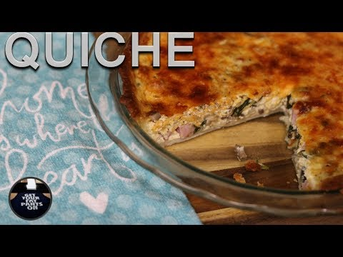 Quiche with Spinach, Mushroom and Ham - Brunch Idea