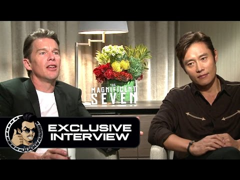 Ethan Hawke & Byung-hun Lee Exclusive THE MAGNIFICENT SEVEN Interview (JoBlo.com)