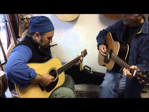 Kindred Guitars - SDR-28MLE and DR-28V live from GGG