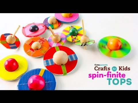 Diy Toy Spin Finite Tops Pbs Parents Crafts For Kids