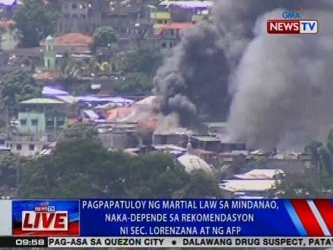 NTVL: Pagpapatuloy ng Martial Law, naka-depende sa rekomendasyon ni Sec. Lorenzana at ng AFP