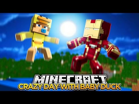 Minecraft Adventure - A DAY OF CHAOS WITH BABY DUCK