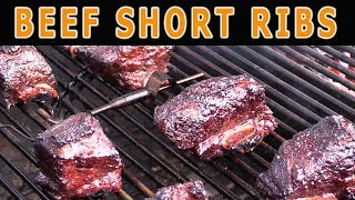 Beef Short Ribs on Weber Performer Using a Slow 'N Sear