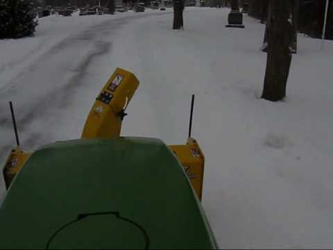 Plowing with a John Deere 4110