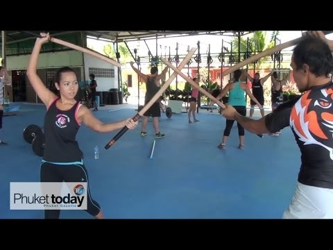 Training Bella at Tiger Muay Thai - Krabi Krabong