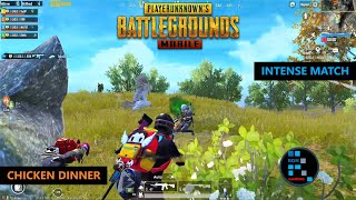 PUBG MOBILE | AMAZING SQUAD WIPES & INTENSE FIGHT CHICKEN DINNER