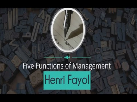 Henri Fayol | Five Functions of Management With Examples