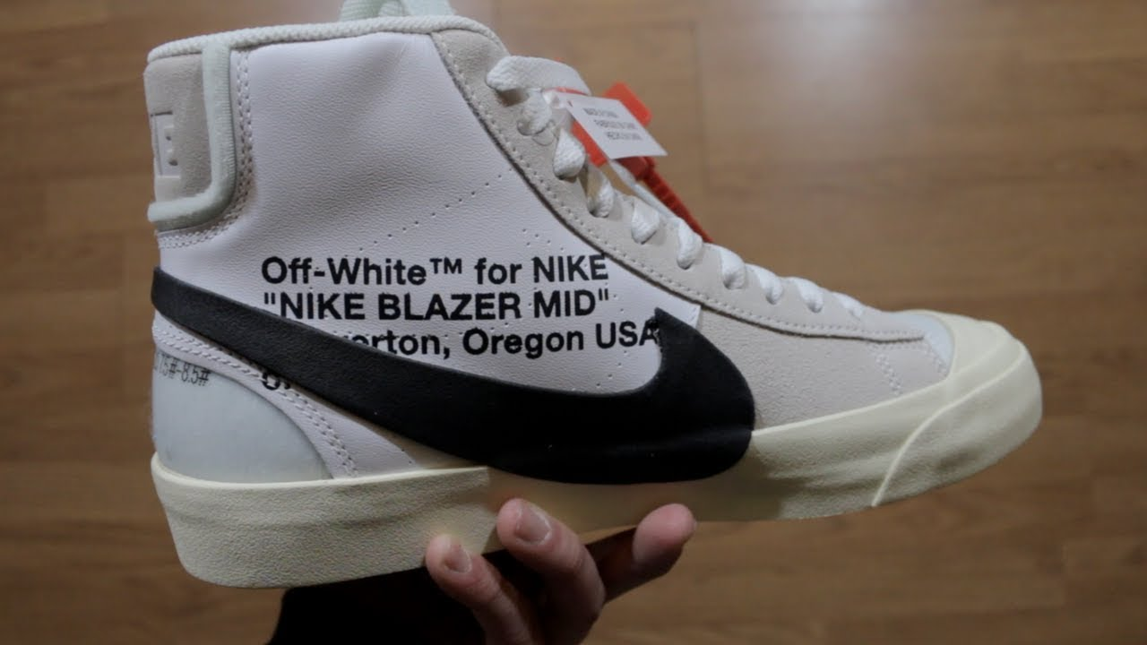 a890325e73c3 OFF WHITE X NIKE BLAZER MID REVIEW!!!