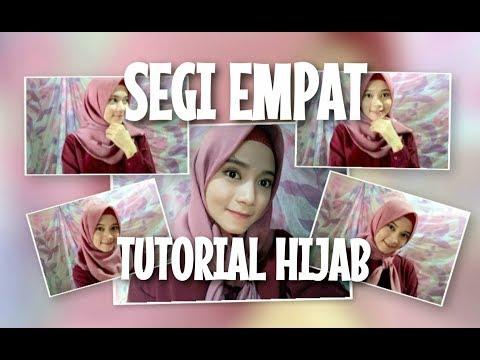 Tutorial Hijab Segi Empat Simple || Lima Style Hijab 💗