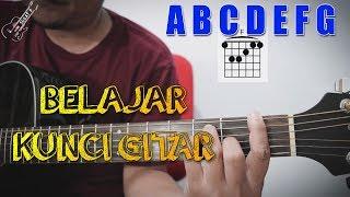 belajar kunci gitar dasar untuk pemula dengan mudah chord major a b c d e f g