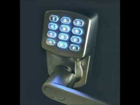 electronic keyless door lock set satin nickel for righthinged doors only