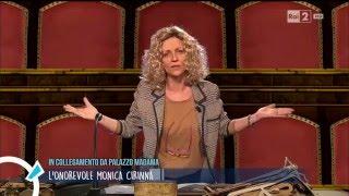 Collegamento con Monica Cirinnà (Lucia Ocone) - Quelli che il calcio 21/02/2016