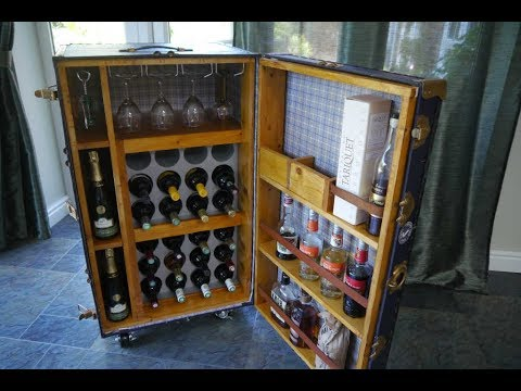 An Old Trunk made into a Wine Cabinet - classic upcycle