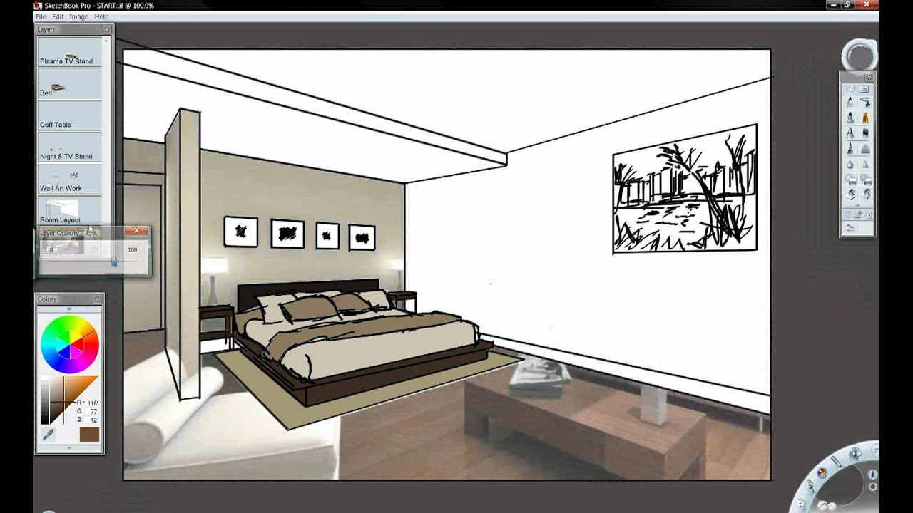 Autodesk sketchbook pro and inventor youtube for Autodesk online home design