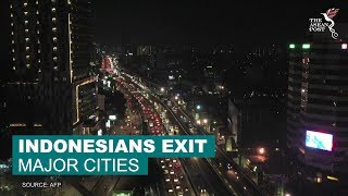 Indonesians exit major cities