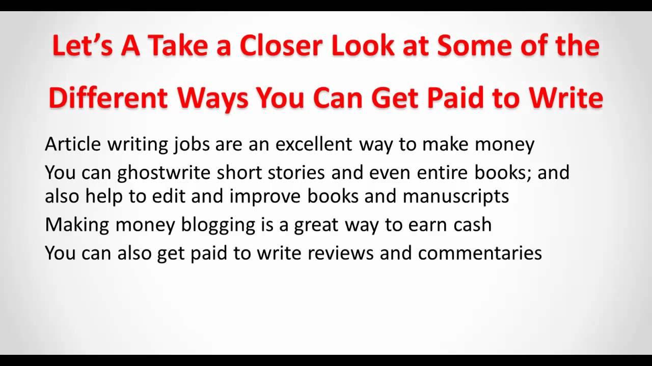 online article writing job