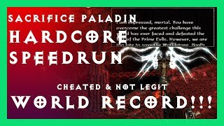 cheated DIABLO 2 WORLD RECORD PALADIN SPEEDRUN 00:15:42