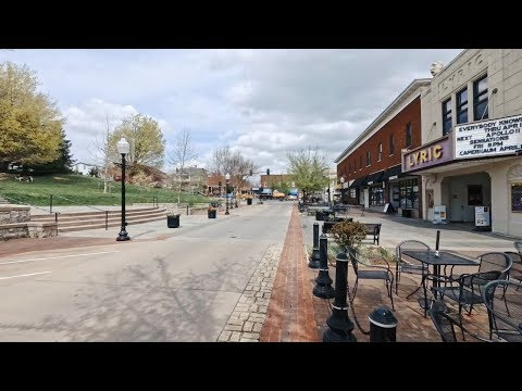Walking in Blacksburg, Virginia