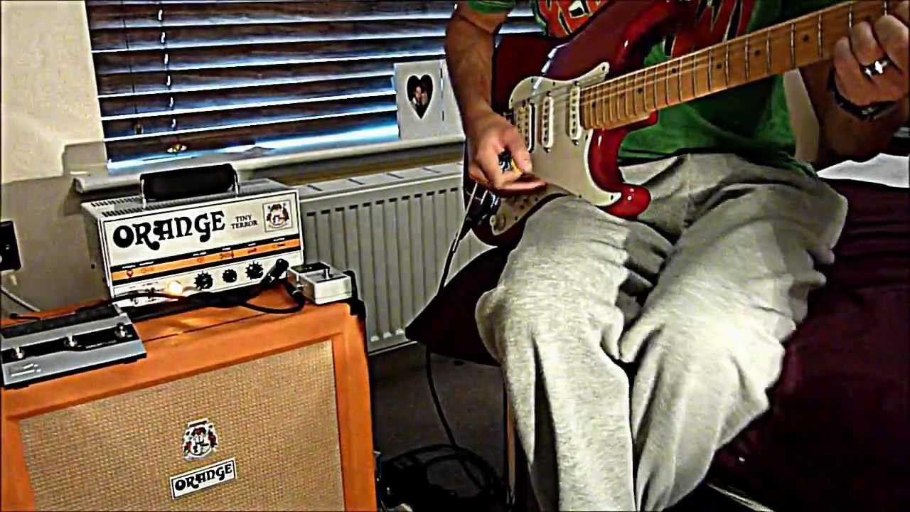 Tone Test Orange Tiny Terror Orange 1x12 Cabinet Fender American