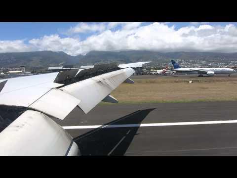 Landing at Reunion Island