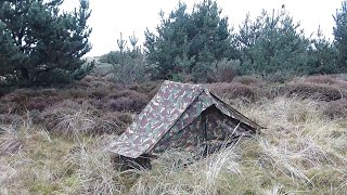 Dutch Army Canvas Ridge Tent For Stealth Camping In The Woods Wild Camping Scotland