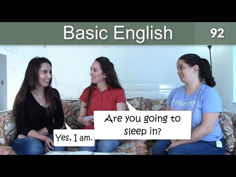 """Lesson 92 ?????Basic English with Jennifer????????????""""Will"""" and """"Be going to"""""""