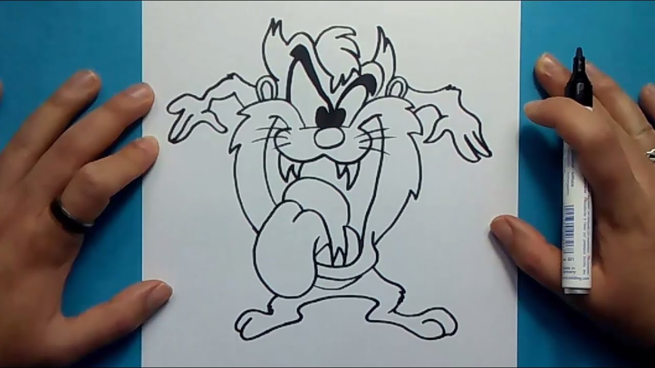 Como Dibujar Al Demonio De Tasmania Paso A Paso 2 Looney Tunes How To Draw Taz 2 Looney Tunes