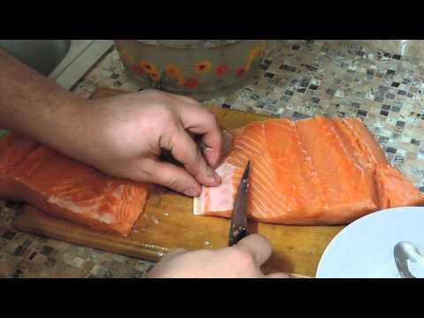 Как солить семгу дома Рецепт соления семги в домашних