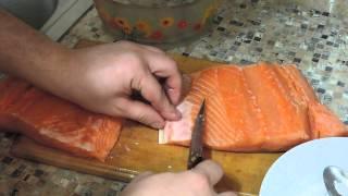 Как солить рыбу,семгу,форель ,лосось.