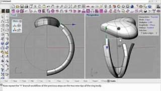 إنشاء حلقة مع T-المفاتيح من أجل Rhino 3d