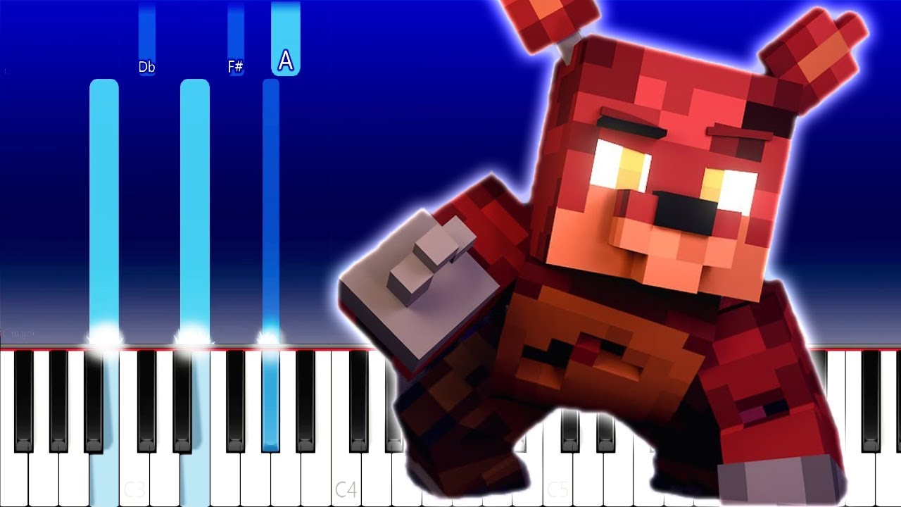 The Foxy Song   Five Nights at Freddy's Song   ZAMination (Piano Tutorial) Groundbreaking