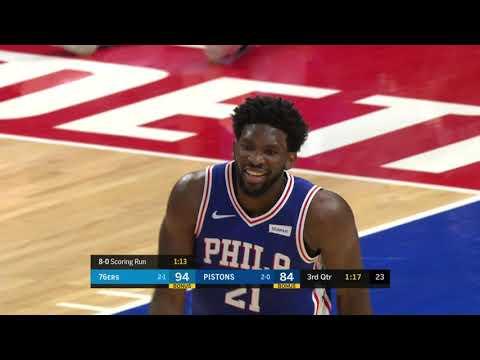 Philadelphia 76ers at Detroit Pistons: October 23, 2018