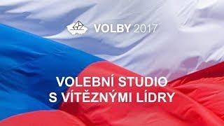 Volby 2017: Volební studio s vítěznými lídry