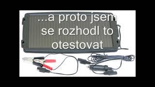 TEST- solární nabíječka autobaterií 12V 2W