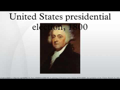 United States presidential election, 1800
