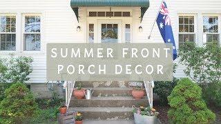 SUMMER FRONT PORCH DECOR | 2018 Outdoor DIY & Decor Challenge