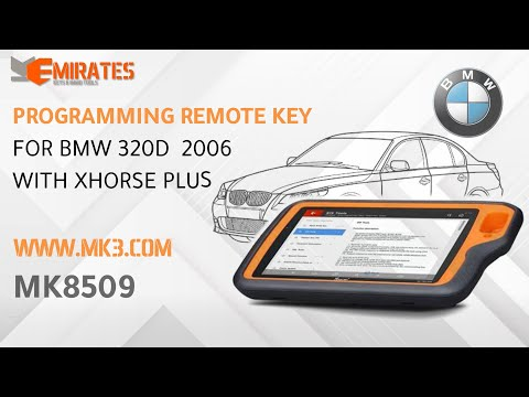 Programming Remote Key For BMW 320D 2006 With Xhorse VVDI Key Tool Plus Pad Device.