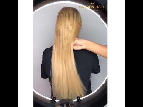 Наращивание волос блонд Североморск