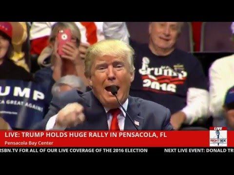 Donald Trump Doesn't Like The Microphone in Pensacola (1-13-16)