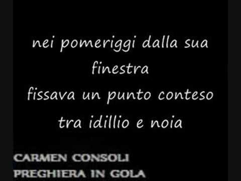 Carmen consoli preghiera in gola doovi - A finestra carmen consoli ...