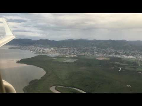 Onboard Caribbean Airlines 737-800 Approach and Landing in POS!!!!