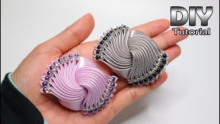 DIY - Tutorial Kanzashi Galaxy Satin Ribbon | Elegant Brooch | Gurita manja | How to make Flower
