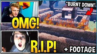 STREAMERS REACT TO 'WAILING WOODS' *BURNING DOWN* Event! (FOOTAGE)