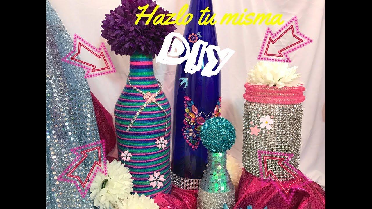 29ccbde94 Manualidades con botellas de vidrio centros de mesa para fiestas ...