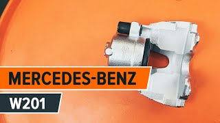 How to replace Brake caliper MERCEDES-BENZ 190 (W201) Tutorial