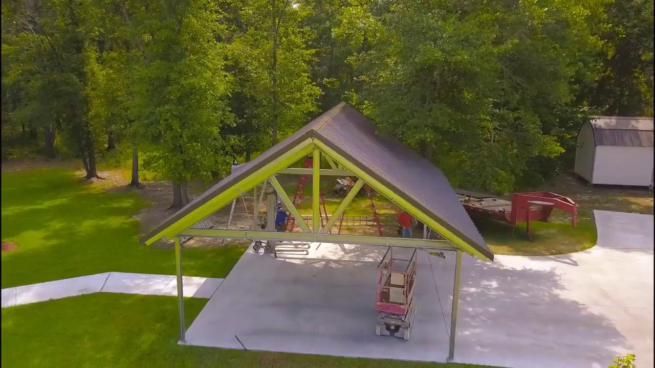 How to build a Timber Frame Carport out of Steel - YouTube
