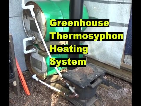 Greenhouse Thermosiphon Wood Boiler Heating Working & More